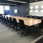 Custom Designed Boardroom Table for DWER Joondalup, Western Australia. In collaboration with MKDC. Salvaged WA Blackbutt 7700 x 2300 x 740mm