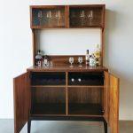 Custom Drinks Cabinet. Handcrafted in solid Tasmanian Blackwood with an Ebonised Blackwood base.