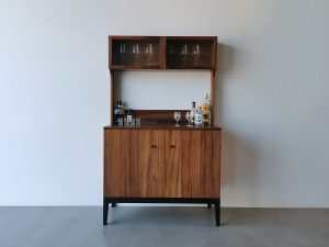 Custom Drinks Cabinet. Handcrafted in solid Tasmanian Blackwood with an Ebonised Blackwood base.