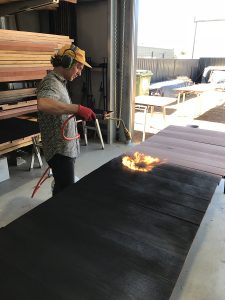 Scorching Jarrah for 8m Wandoo Staff Dining Table