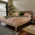 The Quindalup bed is made to order in King, Queen or single. With or without a head board. Solid American Oak with a natural oil finish and available with solid Oak or pine slats.