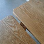 Mel Bench Seat. Handcrafted in American Oak 1800 x 400 x 450mm