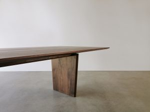 Morey Dining Table. Handcrafted in solid American Walnut. 3000 x 1100 x 740mm