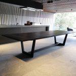 Eden Outdoor Table in Ebonised Oak. 3600 x 1200 x 740mm. Custom Designed for Eden Apartments in Floreat, Western Australia.