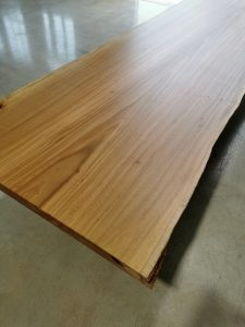 Custom designed live edge dining table. Handcrafted from salvaged Australian Sugar Gum. 4600 x 1200 x 740mm