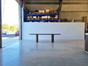 Column Table- Handcrafted in Ebonised American Walnut, 2800 x 1100 x 740mm