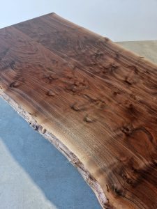 Walnut Live Edge Dining Table. Rare, book matched American Walnut Slabs